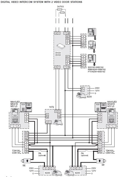 69_DF6000_skeem_2 products df6000 farfisa door entry wiring diagrams at highcare.asia