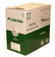 LinkSide Cat5e U/UTP, indoor cable, 0,49mm, 24AWG, grey(RAL7035), LSZH, Dca-s1d2a1, box, 305m