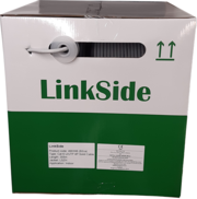 LinkSide Cat6 U/UTP, indoor cable, 0.55mm, 23AWG(RAL7035), grey, LSZH, box, 305m. Delta certificate class B2ca-s1d1a1
